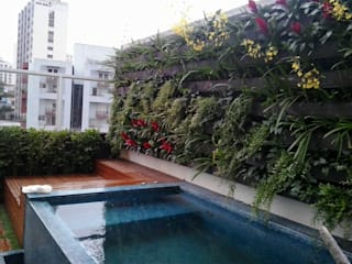 Jardim vertical Jardins modernos por Edu Leal Paisagismo Moderno