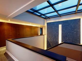 Pasillos y vestíbulos de estilo  por JMS DISEÑO DE INTERIORES MUEBLES Y CONSTRUCCION , Moderno