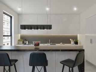 Diseño de interiores Cocinas modernas de MG estudio de arquitectura Moderno