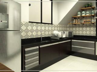 Projeto de interiores | Cozinha:   por UneLine Arquitetura