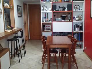 Sala Jantar em apartamento Barra Tijuca-RJ Salas de jantar modernas por SANDRA VIANNA arquitetura e instalações Moderno