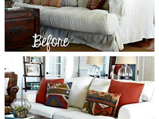 Replacement custom slipcovers: IKEA Ekeskog sofa:   by Comfort Works Custom Slipcovers