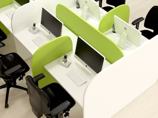 Call Center work station: Escritórios  por FERCIA- Furniture Solutions