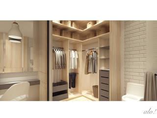 V's House Scandinavian style dressing room by studioalo Scandinavian