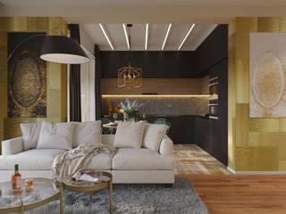 Квартира на Смольной: Гостиная в . Автор – Дизайн-студия 'Вердиз'