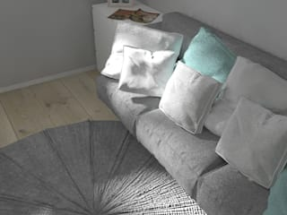 Pokój 9-letniej dziewczynki: styl , w kategorii Pokój dziecięcy zaprojektowany przez PUFA STUDIO