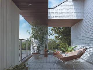 Balcony モダンデザインの テラス の (有)ハートランド モダン