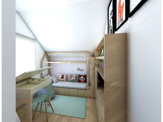 Eclectic style nursery/kids room by PUFF Eclectic