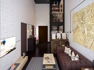 Industriale Wohnzimmer von Арт Реал Дизайн Industrial
