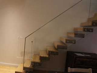 Sovinorte Modern Corridor, Hallway and Staircase Glass Transparent