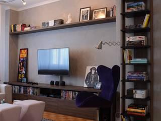 Apartamento TN Salas de estar modernas por Nathalia Bilibio Arquitetura e Construção Moderno