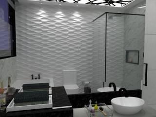 Banheiro Cinza por Mayara Feitosa Arquitetura Minimalista