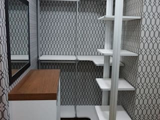 양산 상가 신축주택 리모델링: 빅터인디자인그룹의  드레스 룸