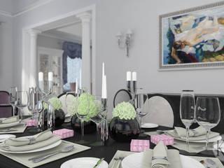 Проект коттеджа в с.Мочище, г.Новсибирск Столовая комната в классическом стиле от KOSOLAPOVA DESIGN Классический