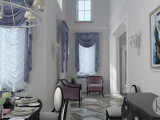 Столовая в коттедже: Столовые комнаты в . Автор – KOSOLAPOVA DESIGN