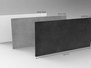 Płyta imitująca beton 104 x 52 cm - TECTRA, ZICARO. Nowoczesny salon od ZICARO - producent paneli 3D o strukturze betonu architektonicznego Nowoczesny