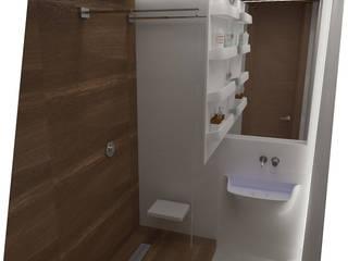 Проект двухкомнатной квартиры Ванная комната в стиле минимализм от KOSOLAPOVA DESIGN Минимализм