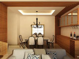 Bishnoi's Residence Modern dining room by Pixilo Design Modern