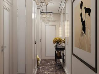 Couloir, entrée, escaliers classiques par Арт Реал Дизайн Classique