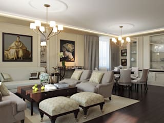 Klassische Wohnzimmer von Арт Реал Дизайн Klassisch