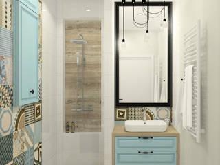 Łazienka z patchworkami : styl , w kategorii Łazienka zaprojektowany przez Esteti Design