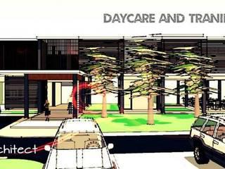 Day care Center Project มูลนิธิช่วยคนปัญญาอ่อนแห่งประเทศไทย ในพระบรมราชินุปถัมภ์: ทันสมัย  โดย iamarchitex, โมเดิร์น
