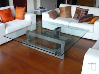 IOS Contemporary stainless steel coffee table GONZALO DE SALAS Living roomSide tables & trays