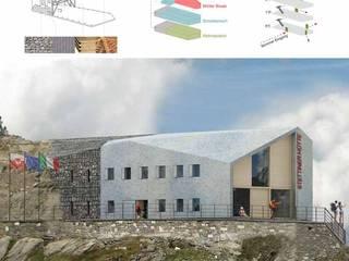 Render rifugio : Case in stile in stile Moderno di AHORA ARCHITETTURA
