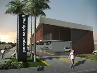 CENTRO COMERCIAL: PARQUE VERDE MALL: Espaços comerciais  por Arquitetura Integrada