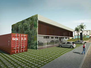 CENTRO COMERCIAL: PARQUE VERDE MALL: Edifícios comerciais  por Arquitetura Integrada