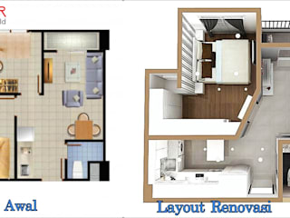 Denah awal dan denah renovasi:   by De' Catoer design & build