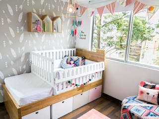 Eclectic style nursery/kids room by Little One Eclectic