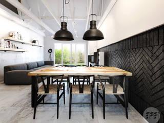 Dom industrialny: styl , w kategorii Jadalnia zaprojektowany przez 365 Stopni