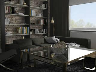 Salon w domu jednorodzinnym: styl , w kategorii Salon zaprojektowany przez PUFA STUDIO