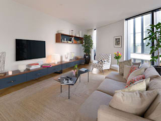 Neo Bankside Apartments Minimalist living room by Graham D Holland Minimalist