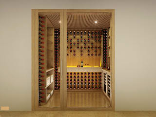 EDR - Adegas Climatizadas Classic style wine cellar Glass Multicolored