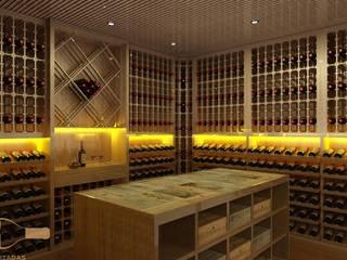EDR - Adegas Climatizadas Classic style wine cellar Wood Wood effect