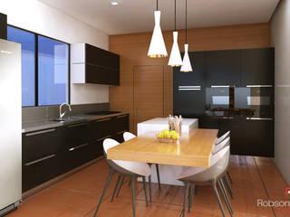 Residência Cangussu Cozinhas minimalistas por Robson Veloso Arquitetura Minimalista