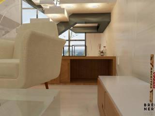 Sala de Estar/Jantar | M & I: Salas de estar  por Breno Nery - Arquitetura + Design,Moderno