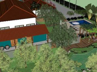 SÍTIO F|EUA Jardins rústicos por Alternativa Arquitetura Rústico