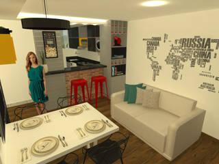 CASA P Salas de jantar ecléticas por Alternativa Arquitetura Eclético