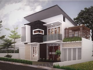 Santur house Axis Citra Pama Rumah Modern Batu Multicolored