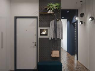 Pasillos, vestíbulos y escaleras minimalistas de ДОМ СОЛНЦА Minimalista