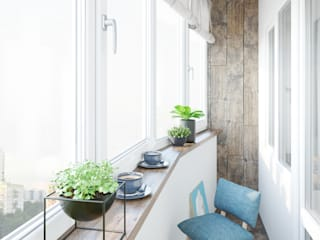Флер Балкон и терраса в стиле минимализм от ДОМ СОЛНЦА Минимализм