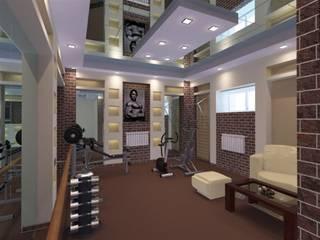 Тренажерный зал для девушки:  в . Автор – Студия интерьера 'IDEAL DESIGN'