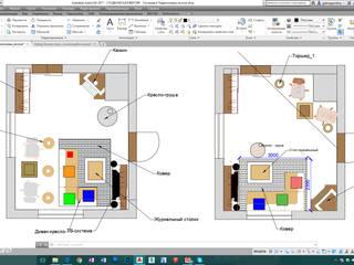 Гостиная в Скандинавском стиле 30 м2:  в . Автор – Студия интерьера 'IDEAL DESIGN'