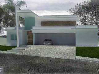 Arquitetura das Fachadas: Casas  por Arquiteto Ralph Lemos,Moderno
