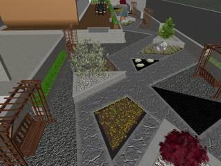 SAMSUN BAHÇE PEYZAJ PROJESİ // SAMSUN GARDEN LANDSCAPE PROJECT Modern Bahçe AYTÜL TEMİZ LANDSCAPE DESIGN Modern