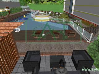 SAMSUN BAHÇE PEYZAJ PROJESİ // SAMSUN GARDEN LANDSCAPE PROJECT II Modern Bahçe AYTÜL TEMİZ LANDSCAPE DESIGN Modern