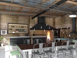 ARBOL Arquitectos Rustic style dining room